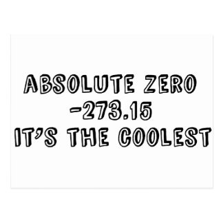 Absolute Zero, It's the Coolest Postcard