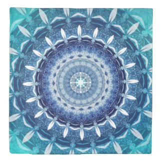 Absolute Zero Mandala Duvet Cover