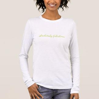 absolutely fabulous logo on back long sleeve T-Shirt