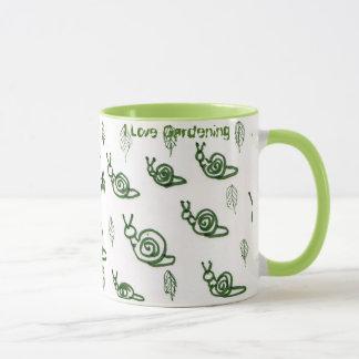 Absract snail & leaf design mug