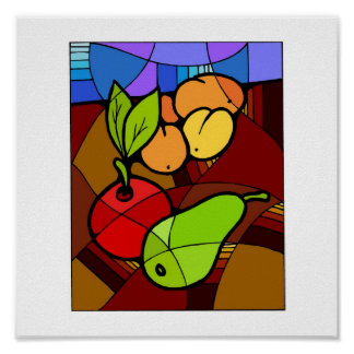Abstact Fruit Kitchen Decor 15x15