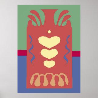 Abstarct: Jug of Hearts Posters