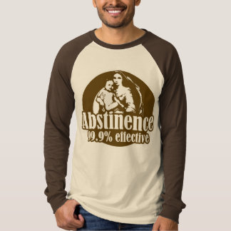 Abstinence 99% Effective Religious Humor T-Shirt