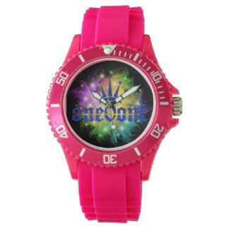 Abstract 101 Crown Royal Pink Watch