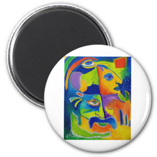 Abstract 10-18 2 inch round magnet