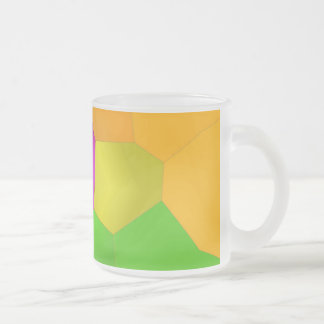 abstract 10 oz frosted glass coffee mug