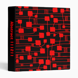 Abstract 111211 - Red on Black (2in) 3 Ring Binder