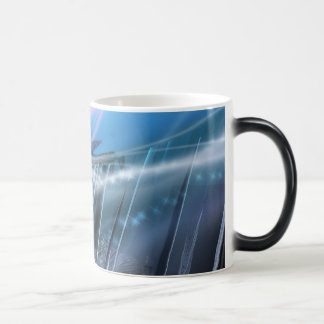Abstract 11 Oz Magic Heat Color-Changing Coffee Mug