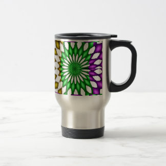 abstract 15 oz stainless steel travel mug