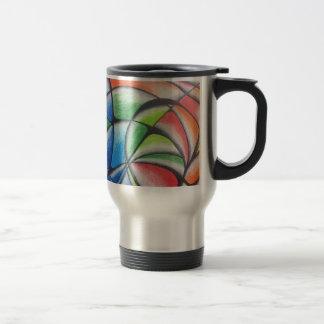 abstract 15 oz stainless steel travel mug