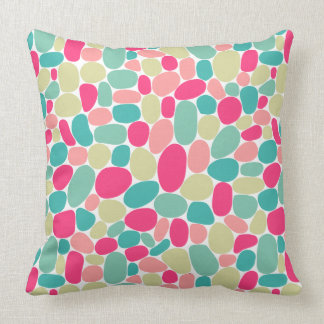 Abstract 160417 - Colours on White Throw Pillow