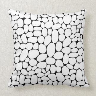 Abstract 160417 - White on Black Throw Pillow