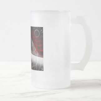 Abstract 16 Oz Frosted Glass Beer Mug