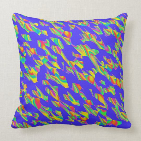 Abstract 190716(02) throw pillow