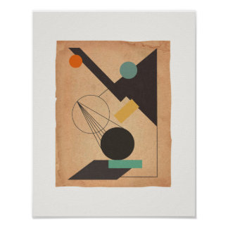 Abstract #1 Bauhaus Poster
