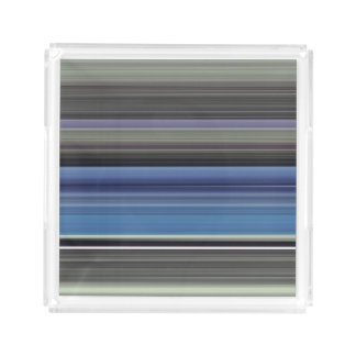 Abstract #1: Blue and grey Acrylic Tray