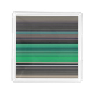 Abstract #1: Green and grey Acrylic Tray