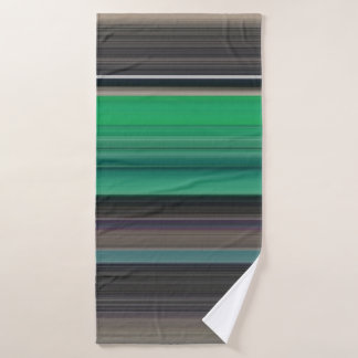 Abstract #1: Green and grey Bath Towel