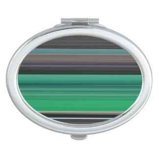 Abstract #1: Green and grey Makeup Mirror