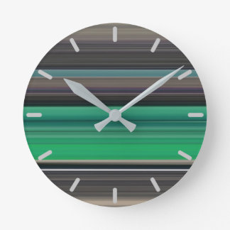 Abstract #1: Green and grey Round Clock