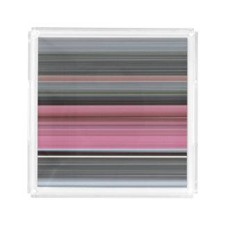 Abstract #1: Pink and grey Acrylic Tray