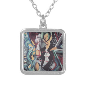 Abstract 2016 silver plated necklace