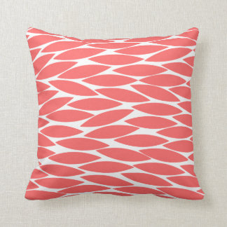 Abstract 250713 - Tropical Pink on White Throw Pillow