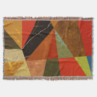 Abstract #257 throw blanket