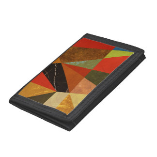 Abstract #257 Vincent's Bedroom Tri-fold Wallet