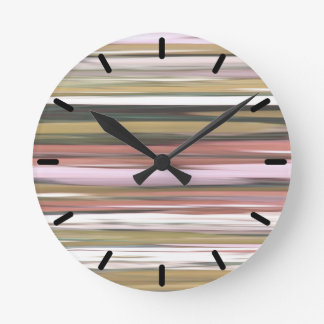 Abstract #2: Autumn Fall colors blur Round Clock