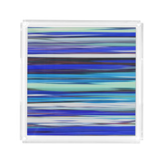 Abstract #2: Blue blur Acrylic Tray