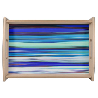 Abstract #2: Blue blur Serving Tray