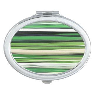 Abstract #2: Green blur Travel Mirror