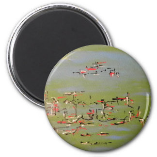 Abstract 2 Inch Round Magnet