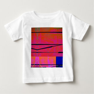 abstract 2 Linear Bold Orange Pink and Blue Baby T-Shirt