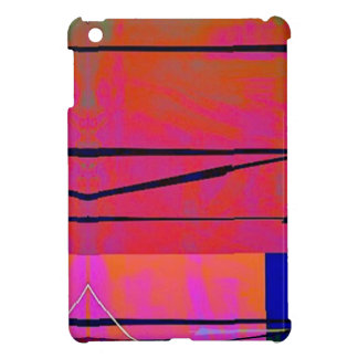 abstract 2 Linear Bold Orange Pink and Blue iPad Mini Cover