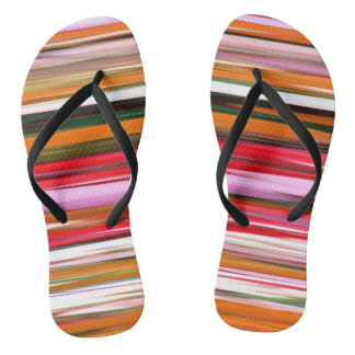 Abstract #2: Orange blur Flip Flops