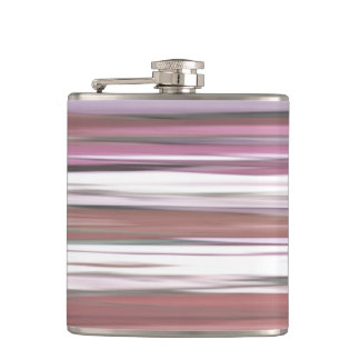 Abstract #2: Pink blur Hip Flask