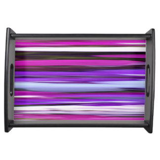 Abstract #2: Purple Blur Serving Tray