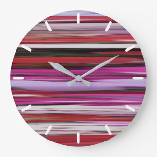 Abstract #2: Red blur Large Clock