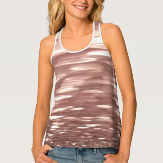 Abstract #3: Copper Rose Gold shimmer Tank Top