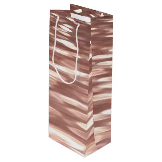 Abstract #3: Copper Rose Gold shimmer Wine Gift Bag