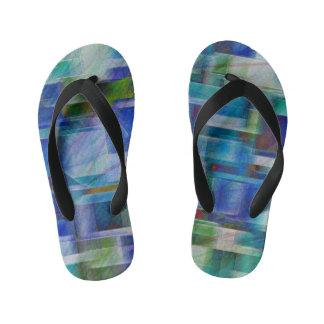 Abstract 404 kid's flip flops
