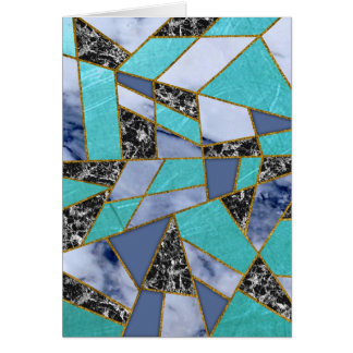 Abstract #457 Marble Shards Card