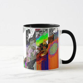 """""""ABSTRACT 4"""" 11 oz. RINGER COFFEE MUG"""