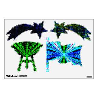 Abstract  4th of July Wall Decals