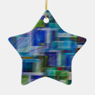 Abstract 5829 ceramic ornament