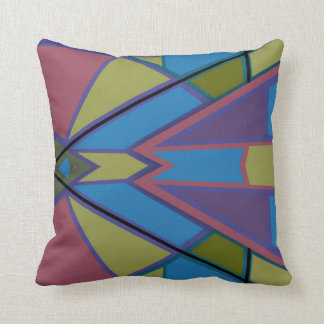 Abstract #586 throw pillow
