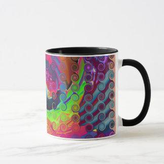 """""""ABSTRACT 5"""" 11 oz. RINGER COFFEE MUG"""