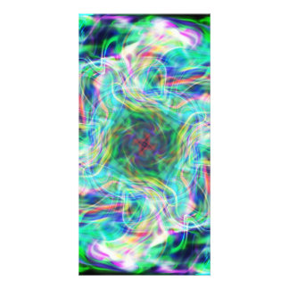 Abstract 6 customized photo card